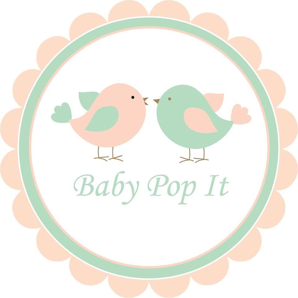 Este é o logo da marca Baby Pop It